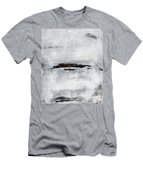 Coast # 10 Seascape Landscape Original Fine Art Acrylic On Canvas Men's T-Shirt (Athletic Fit)