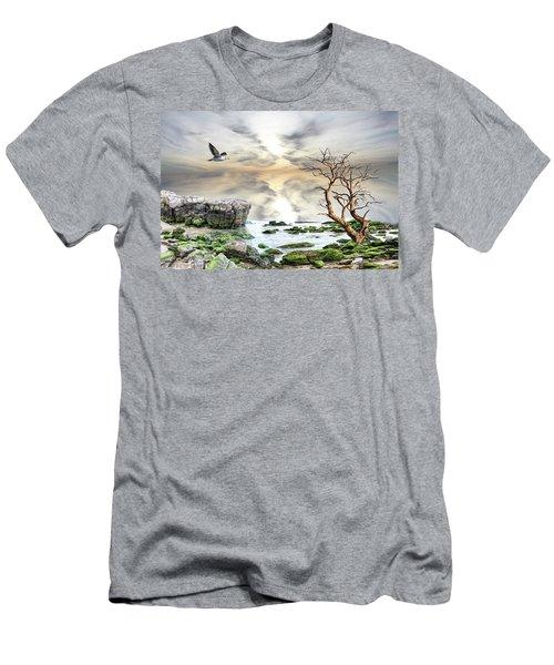 Men's T-Shirt (Slim Fit) featuring the photograph Coastal Landscape  by Angel Jesus De la Fuente