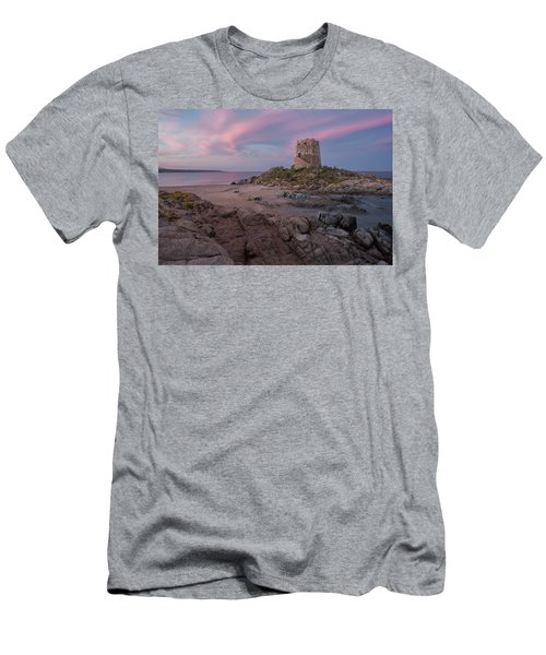 Coastal Tower At Sunset Men's T-Shirt (Athletic Fit)