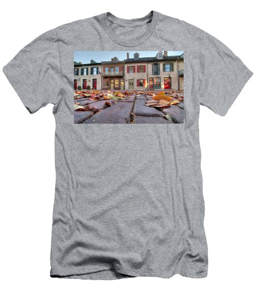 Cobblestone And Leaves Men's T-Shirt (Athletic Fit)
