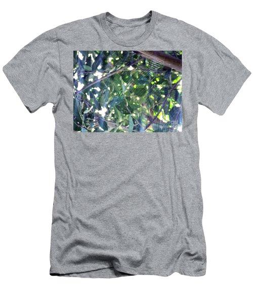 Men's T-Shirt (Slim Fit) featuring the photograph Cobweb Tree by Megan Dirsa-DuBois