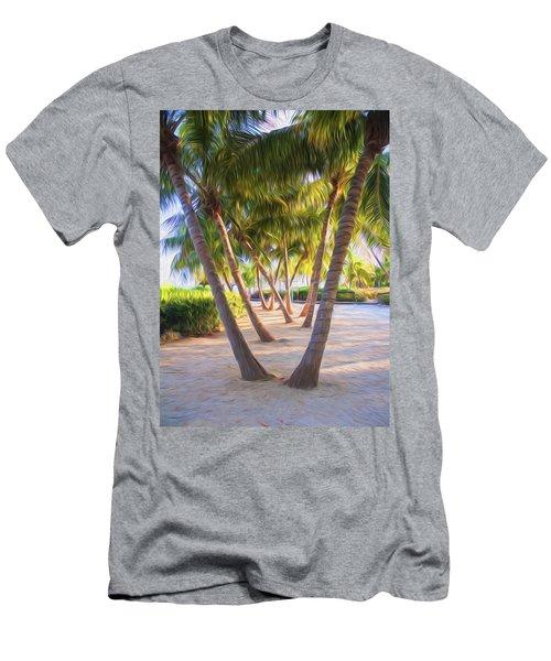 Coconut Palms Inn Beachfront Men's T-Shirt (Athletic Fit)