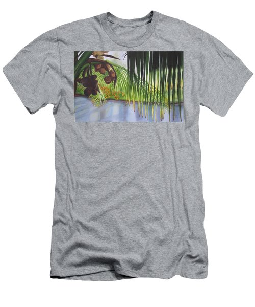 Men's T-Shirt (Slim Fit) featuring the painting Coconut Tree by Teresa Beyer
