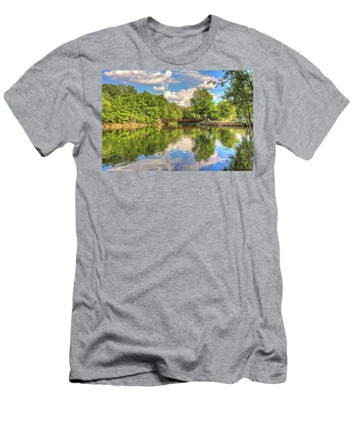 Men's T-Shirt (Slim Fit) featuring the photograph Coe Lake by Brent Durken