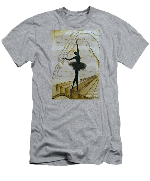 Men's T-Shirt (Slim Fit) featuring the painting Coffee Ballerina by AmaS Art