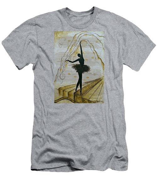 Coffee Ballerina Men's T-Shirt (Athletic Fit)
