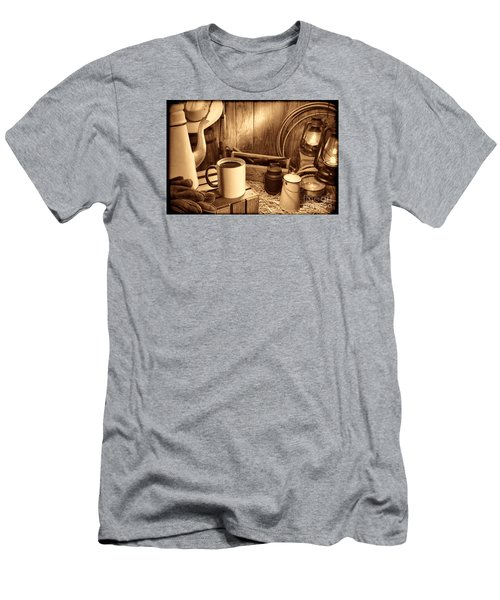 Coffee Break At The Chuck Wagon Men's T-Shirt (Athletic Fit)
