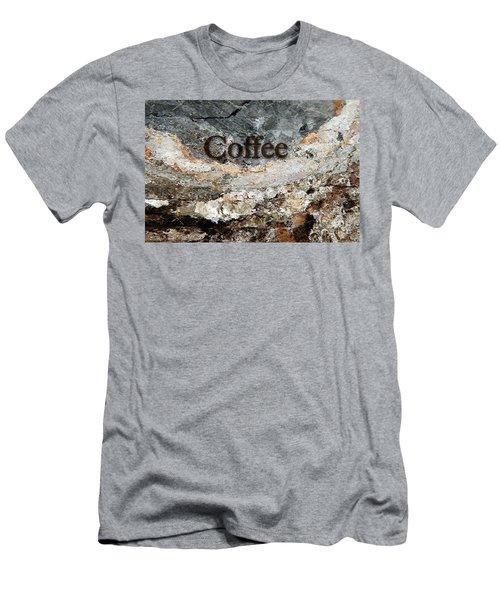 Coffee Edit 2 Brown Letters Men's T-Shirt (Slim Fit) by Margie Chapman
