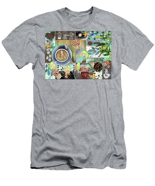 Coffee Shop Collage Men's T-Shirt (Athletic Fit)