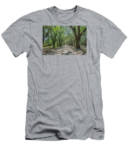 Men's T-Shirt (Slim Fit) featuring the photograph Coffin Point Roadway by Patricia Schaefer