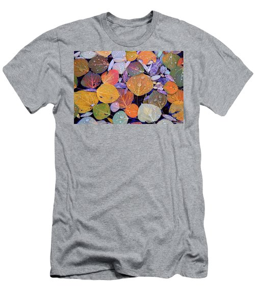 Collage Of Aspen Leaves At Mcgee Creek In The Eastern Sierras Men's T-Shirt (Athletic Fit)