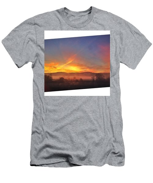 #college #sunrise #slant #crop #sun Men's T-Shirt (Athletic Fit)