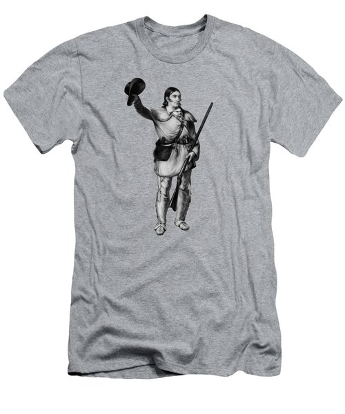 Colonel Davy Crockett Men's T-Shirt (Athletic Fit)
