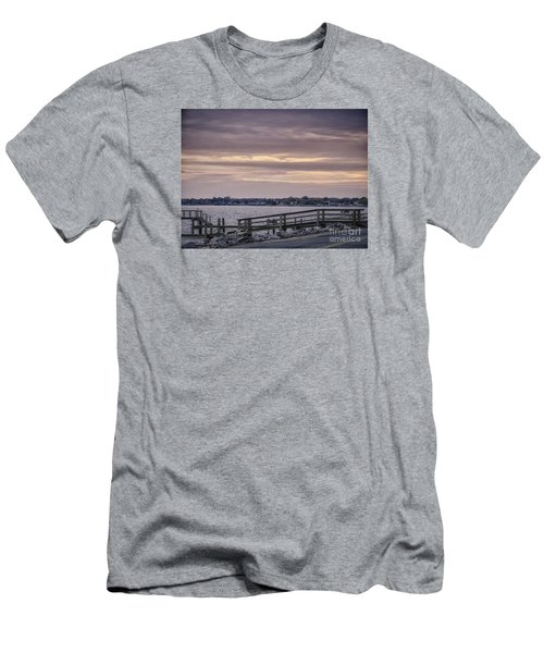 Men's T-Shirt (Slim Fit) featuring the photograph Colonial Beach Virginia Waterfront   by Melissa Messick