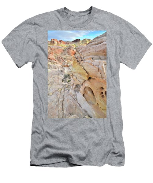 Color At Valley Of Fire State Park Men's T-Shirt (Slim Fit) by Ray Mathis