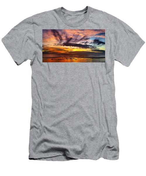 Color Burst Malibu Sunset Men's T-Shirt (Athletic Fit)