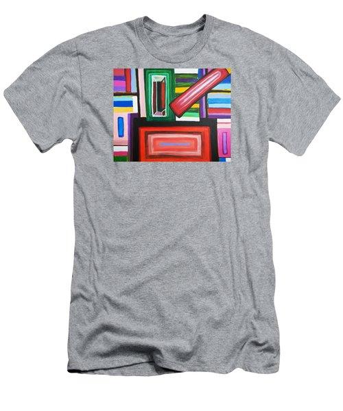 Color Squares Men's T-Shirt (Slim Fit) by Jose Rojas