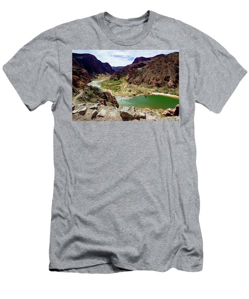 Colorado River Around Boat Beach Men's T-Shirt (Athletic Fit)
