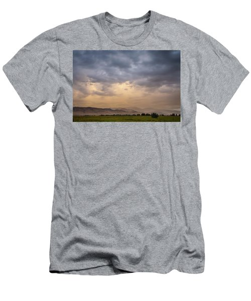 Men's T-Shirt (Athletic Fit) featuring the photograph Colorado Rocky Mountain Foothills Storms by James BO Insogna