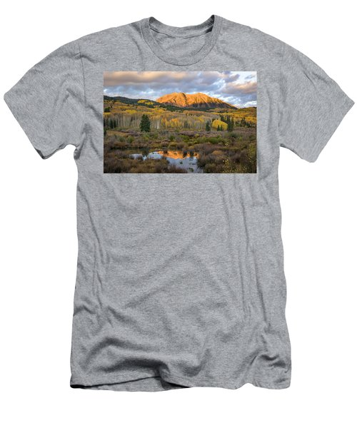 Men's T-Shirt (Slim Fit) featuring the photograph Colorado Sunrise by Phyllis Peterson