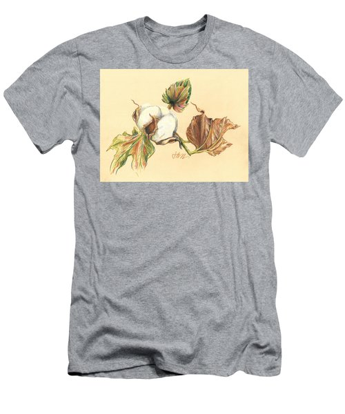 Colored Pencil Cotton Plant Men's T-Shirt (Athletic Fit)