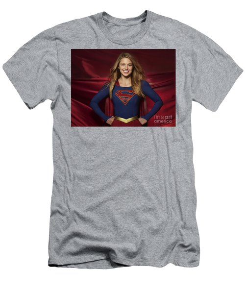 Colored Pencil Study Of Supergirl - Melissa Benoist Men's T-Shirt (Athletic Fit)