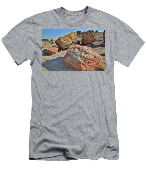 Colorful Boulders In The Bentonite Site On Little Park Road Men's T-Shirt (Athletic Fit)
