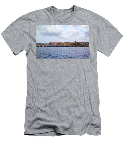 Colorful Curacao Men's T-Shirt (Slim Fit) by Lois Lepisto