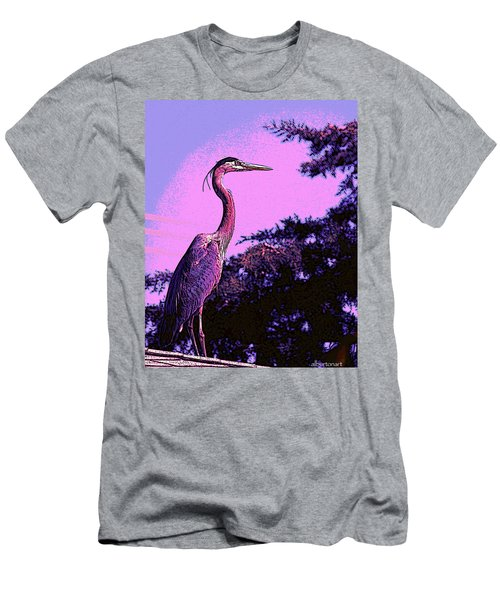 Colorful Heron Men's T-Shirt (Athletic Fit)