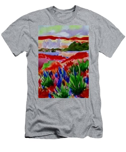 Men's T-Shirt (Slim Fit) featuring the painting Colorful by Jamie Frier