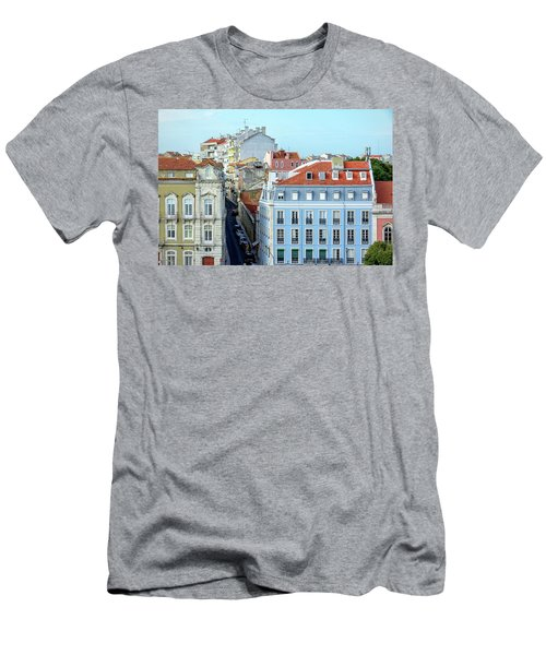 Men's T-Shirt (Slim Fit) featuring the photograph Colorful Lisbon by Marion McCristall