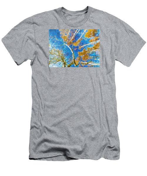 Colorful Mystical Forest Men's T-Shirt (Slim Fit) by Odon Czintos