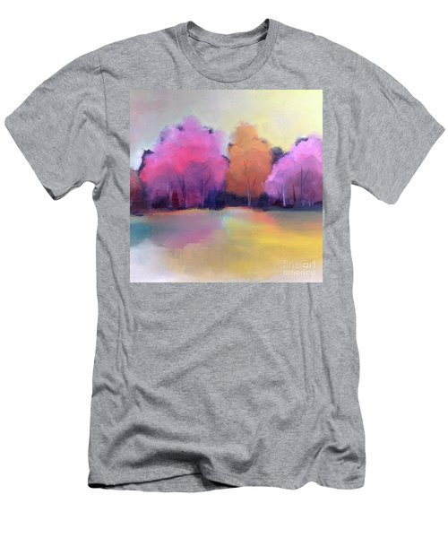Men's T-Shirt (Athletic Fit) featuring the painting Colorful Reflection by Michelle Abrams