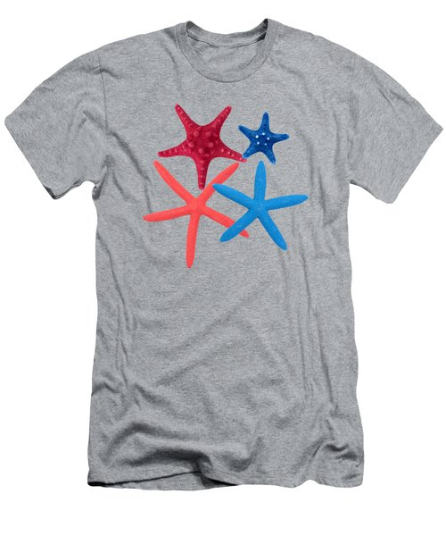 Colorful Starfish Men's T-Shirt (Athletic Fit)