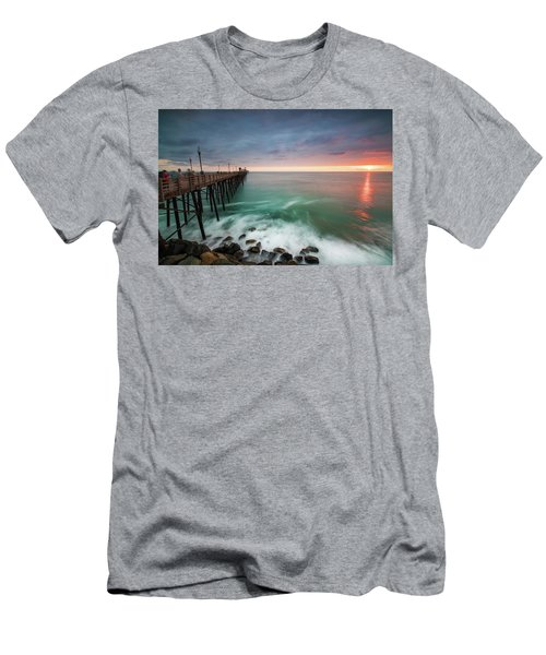 Colorful Sunset At The Oceanside Pier Men's T-Shirt (Athletic Fit)