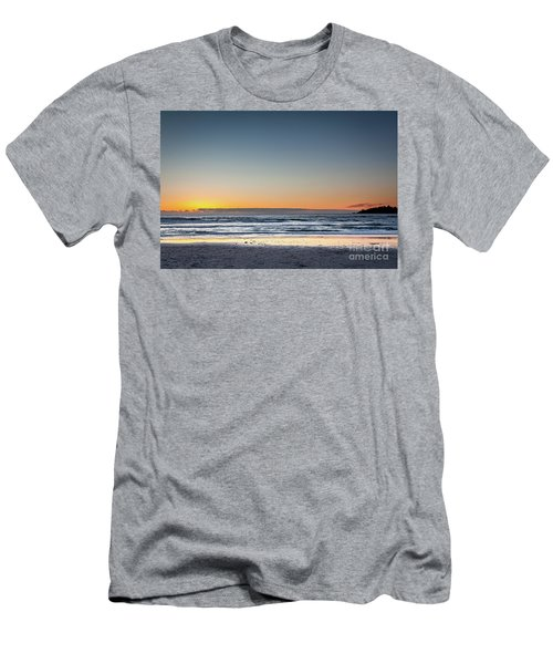 Colorful Sunset Over A Desserted Beach Men's T-Shirt (Athletic Fit)