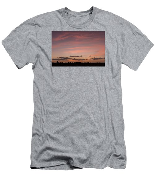 Colorful Sunset Over The Wetlands Men's T-Shirt (Athletic Fit)