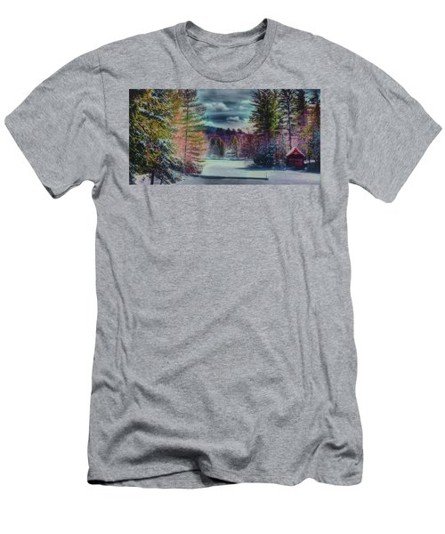 Men's T-Shirt (Slim Fit) featuring the photograph Colorful Winter Wonderland by David Patterson