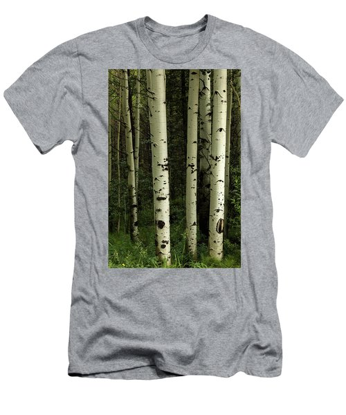 Men's T-Shirt (Athletic Fit) featuring the photograph Colors And Texture Of A Forest Portrait by James BO Insogna