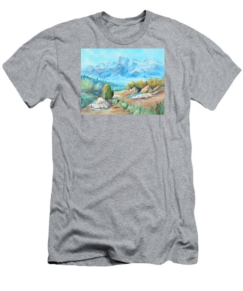 Colors In The High Desert Men's T-Shirt (Slim Fit) by Lloyd Dobson