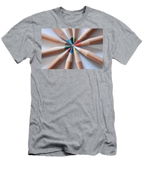 Coloured Pencils 2 Men's T-Shirt (Athletic Fit)