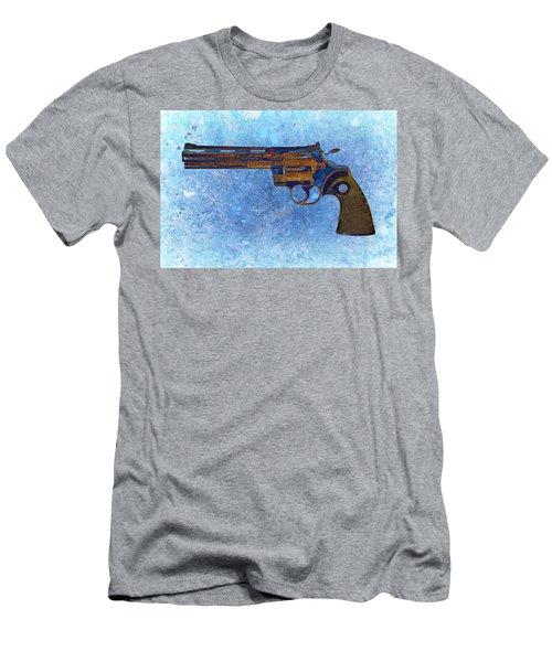 Colt Python 357 Mag On Blue Background. Men's T-Shirt (Athletic Fit)