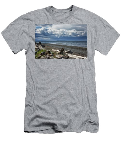 Columbia Beach Men's T-Shirt (Slim Fit) by Randy Hall