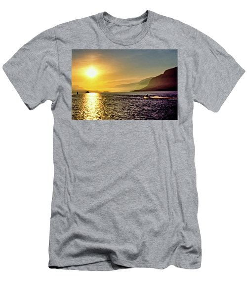 Columbia River 001 Men's T-Shirt (Slim Fit) by Scott McAllister
