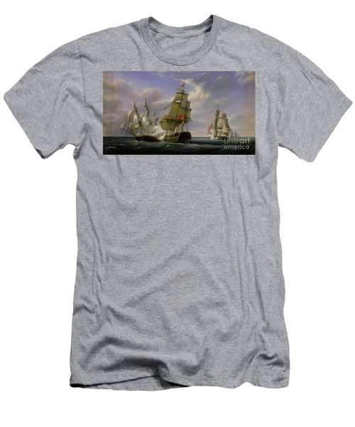 Combat Between The French Frigate La Canonniere And The English Vessel The Tremendous Men's T-Shirt (Athletic Fit)