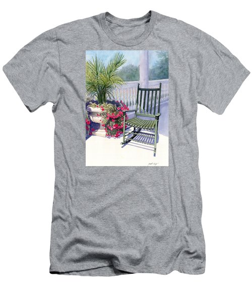 Men's T-Shirt (Slim Fit) featuring the painting Come Sit A Spell by Janet King