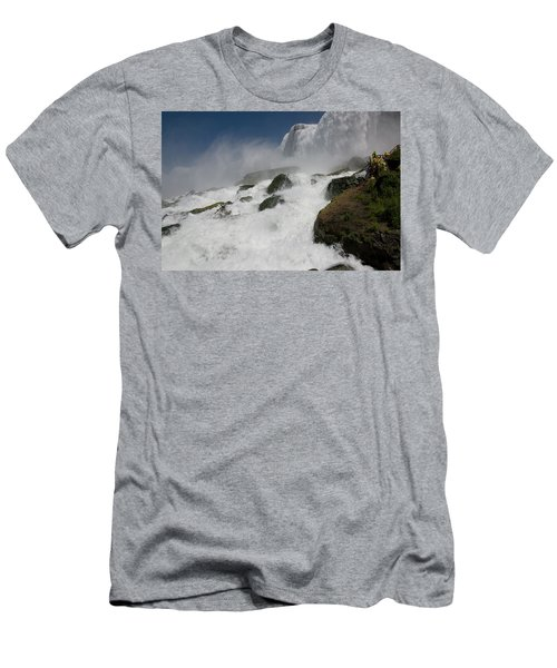 Men's T-Shirt (Athletic Fit) featuring the photograph Coming Close To Niagara Falls by Jeff Folger