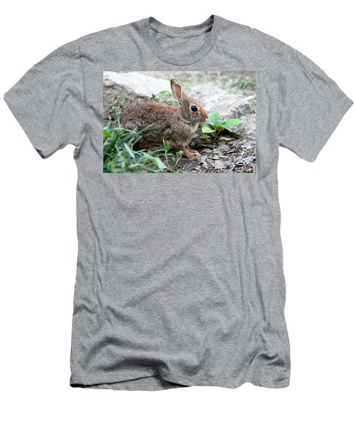 Men's T-Shirt (Slim Fit) featuring the photograph Coming Out Of Hiding by Sheila Brown