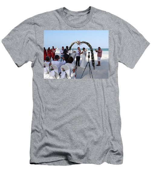Commitment On The Beach In Kenya Men's T-Shirt (Athletic Fit)