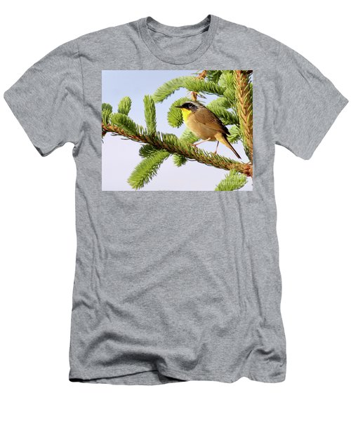 Men's T-Shirt (Athletic Fit) featuring the photograph Common Yellow-throat by Debbie Stahre